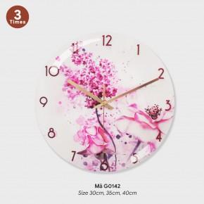 Đồng hồ treo phòng khách đẹp, đồng hồ trang trí tường mã G0142