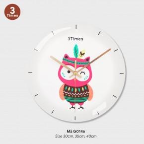Đồng hồ treo phòng khách đẹp, tranh dong ho treo tuong mã G0146