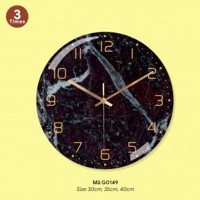 Đồng hồ trang trí phòng khách, thế giới đồng hồ treo tường mã G0149