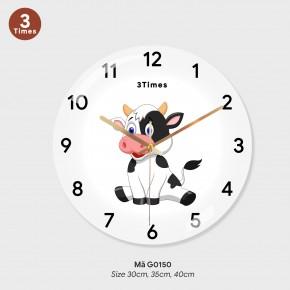 Đồng hồ treo tường giá rẻ, đồng hồ treo tường tranh mã G0150