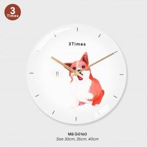 Đồng hồ treo tường tranh, mẫu đồng hồ treo tường sang trọng mã G0160