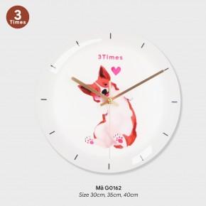 Đồng hồ treo tường phòng khách đẹp, đồng hồ treo tường hình tròn mã G0162