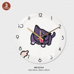 Đồng hồ treo tường sang trọng, tranh đồng hồ treo tường đẹp mã G0164