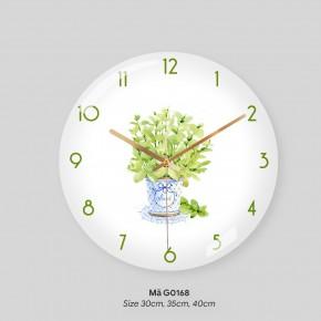 Đồng hồ treo phòng khách đẹp, đồng hồ treo tường độc đáo mã G0168