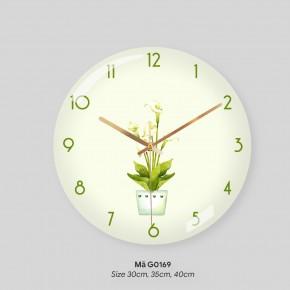 Tranh đồng hồ treo tường đẹp, đồng hồ treo tường trang trí phòng khách mã G0169