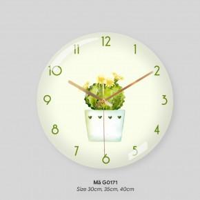 Đồng hồ trang trí phòng khách, mẫu đồng hồ treo tường đẹp mã G0171