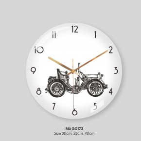 Đồng hồ treo tường tranh, đồng hồ treo phòng khách đẹp mã G0173