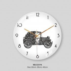 Đồng hồ trang trí đẹp, đồng hồ trang trí nội thất mã G0174