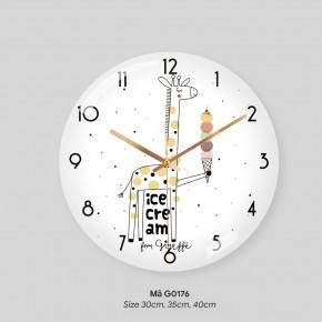 Đồng hồ treo tường loại tốt, đồng hồ trang trí phòng khách mã G0176