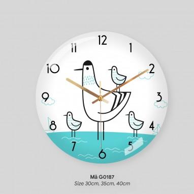 Đồng hồ tranh treo tường, đồng hồ treo tường trang trí phòng khách mã G0187