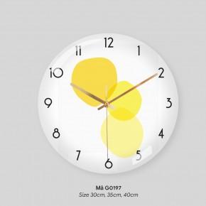 Đồng hồ trang trí tường, đồng hồ tranh treo tường mã G0197