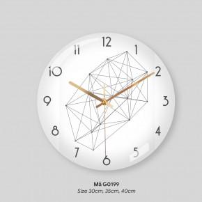 Đồng hồ treo phòng ngủ, tranh đồng hồ treo tường mã G0199