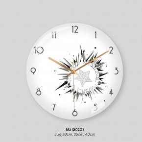 Đồng hồ trang trí phòng khách, tranh treo tường có đồng hồ mã G0201