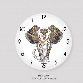Đồng hồ phòng khách, đồng hồ treo tường tranh mã G0204