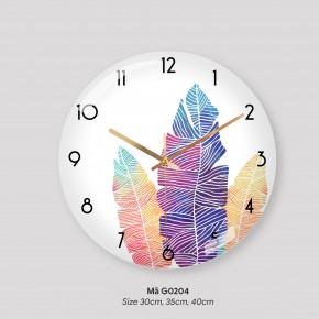 Tranh đồng hồ treo tường đẹp, đồng hồ phòng khách mã G0205