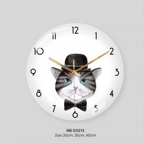 Tranh dong ho treo tuong, đồng hồ treo tương đẹp mã G0213