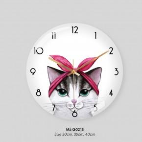 Đồng hồ tranh treo tường, đồng hồ treo tường trang trí phòng khách mã G0215