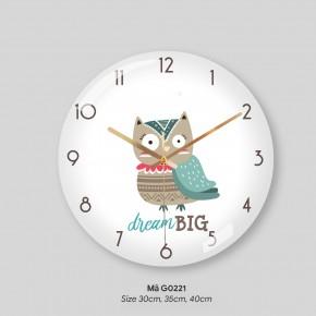 Những mẫu đồng hồ treo tường đẹp, đồng hồ treo phòng khách đẹp mã G0221