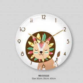 Đồng hồ treo tường tranh, đồng hồ treo tường đơn giản mã G0223