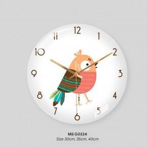 Đồng hồ trang trí, đồng hồ treo tường phòng khách mã G0224
