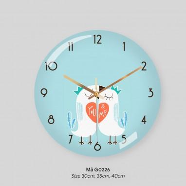 Đồng hồ trang trí phòng khách, đồng hồ trang trí tường mã G0226