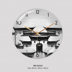 Đồng hồ trang trí đẹp, tranh treo tường có đồng hồ mã G0263
