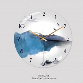 Tranh treo tường có đồng hồ, đồng hồ treo tường phòng khách đẹp mã G0266