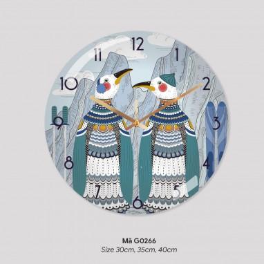 Mẫu đồng hồ treo tường độc đáo, tranh đồng hồ treo tường đẹp mã G0267