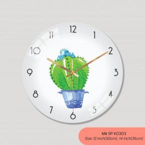 Đồng hồ đẹp treo tường, đồng hồ treo tường sang trọng mã K0303