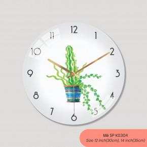 Đồng hồ treo tường trang trí phòng khách, tranh đồng hồ treo tường đẹp mã K0304