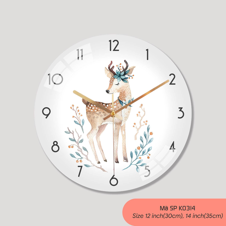 Tranh đồng hồ treo tường, đồng hồ treo phòng ngủ mã K0314