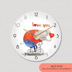 Đồng hồ trang trí đẹp, tranh đồng hồ treo tường đẹp mã K0319