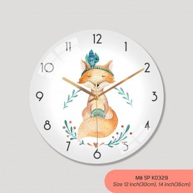 Đồng hồ tranh treo tường, đồng hồ treo tường trang trí phòng khách mã K0329