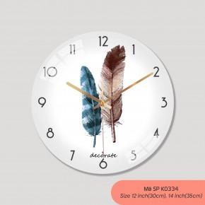Đồng hồ treo tường cao cấp, đồng hồ trang trí nội thất mã K0334