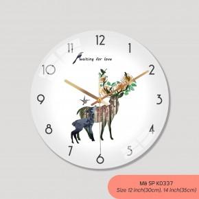Tranh đồng hồ treo tường, đồng hồ treo tường phòng khách đẹp mã K0337