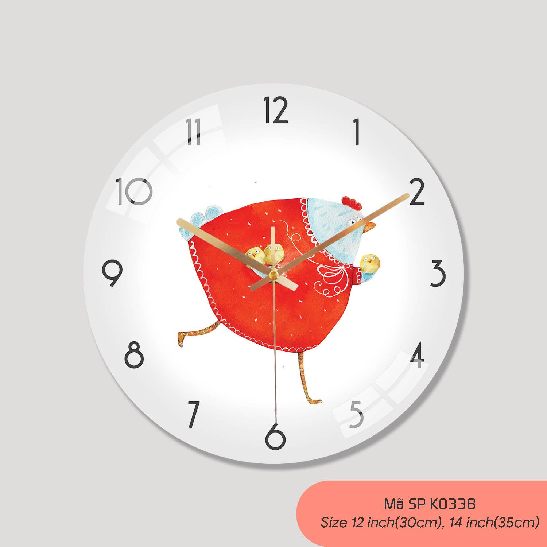 Các loại đồng hồ treo tường đẹp, đồng hồ treo tường phòng khách mã K0338