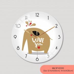 Tranh đồng hồ treo tường đẹp, đồng hồ treo tường phòng khách đẹp mã K0341