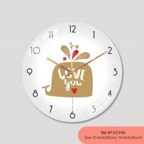 Đồng hồ treo tường phòng khách, đồng hồ tranh treo tường mã K0346