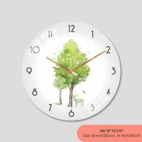 Mẫu đồng hồ treo tường sang trọng, đồng hồ treo tường trang trí phòng khách mã K0347