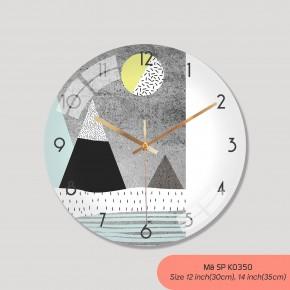 Đồng hồ treo tường đẹp giá rẻ, đồng hồ treo tường trang trí phòng khách mã K0350