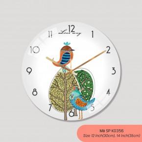 Đồng hồ trang trí nội thất, đồng hồ đẹp treo tường mã K0356