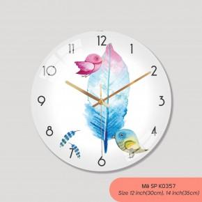 Trang trí đồng hồ treo tường, đồng hồ treo tường phòng khách đẹp mã K0357