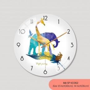 Đồng hồ phòng khách, tranh đồng hồ treo tường mã K0362