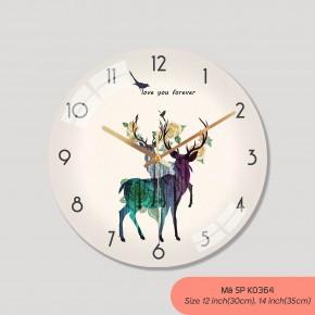 Đồng hồ treo phòng khách đẹp, đồng hồ trang trí mã K0364