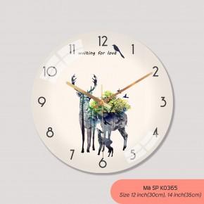 Đồng hồ phòng khách, tranh đồng hồ treo tường đẹp mã K0365
