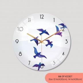 Đồng hồ treo tường nghệ thuật, đồng hồ treo tường phòng khách đẹp mã K0367