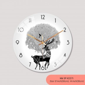 Đồng hồ treo tường tranh, đồng hồ treo tường sang trọng mã K0371
