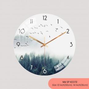 Đồng hồ treo tường phòng khách, đồng hồ tranh treo tường mã K0372