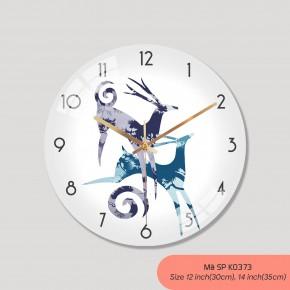 Đồng hồ phòng khách, tranh treo tường có đồng hồ mã K0373