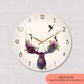 Đồng hồ treo tường loại tốt, đồng hồ treo phòng khách đẹp mã K0376